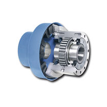 Sprag one-way clutch / with internal bearings / full-face / with coupling