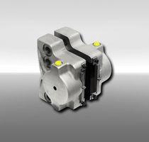 Disc brake caliper / hydraulic clamping / release spring