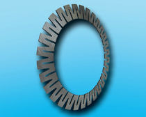 Compression disc spring / conical / steel / clamp