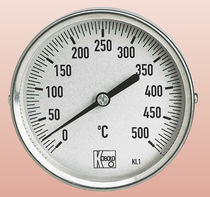Bimetallic thermometer / stainless steel / dial / industrial