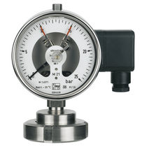 Dial pressure gauge / Bourdon tube / aluminum / with diaphragm seal