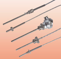 Resistance temperature probe / Pt100 / threaded / stainless steel