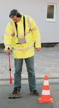 Water leak detector / tracer gas / with headphone / portable