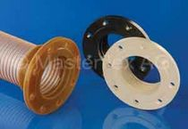 Pipe flange / for hoses / plastic / through-hole