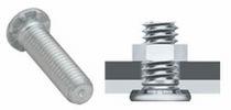 Threaded bolt / flat-head / steel / for heavy loads