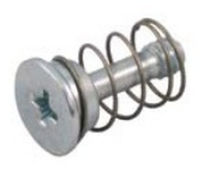 Crimp-on stud / steel / spring