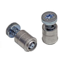 Panel fastener / metallic / spring-loaded