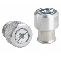 Knurled screw / cylindrical head / aluminum / steel