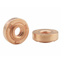Weld-on nut / stainless steel / steel / load-bearing