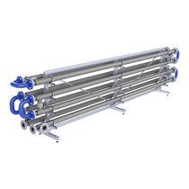 Tubular heat exchanger / liquid/liquid / for wastewater