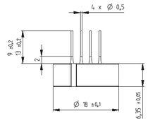 Relative pressure sensor / piezoelectric / ceramic / analog