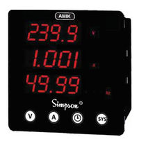 Electrical parameters meter / AC / frequency / speed