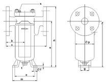 Liquid filter / single-basket / high-performance / screw-lock