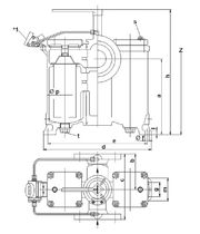 Liquid filter / double-basket / high-performance / continuous