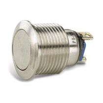 Single-pole push-button switch / stainless steel / electromechanical / momentary