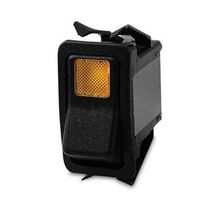 Rocker switch / single-pole / panel-mount / LED-illuminated
