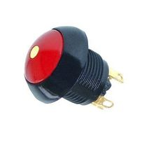 Mushroom push-button switch / multipolar / LED-illuminated / aluminum