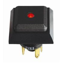Single-pole push-button switch / watertight / aluminum / LED-illuminated