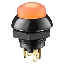 Single-pole push-button switch / watertight / LED-illuminated