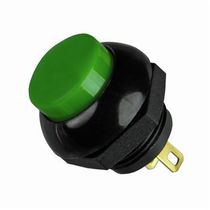 Spring push-button switch / single-pole / threaded / momentary