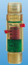Variable-area flow meter / for oil / viscosity-compensated / in-line