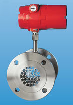 Thermal flow meter / mass / for gas / in-line