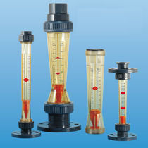 Variable-area flow meter / for air / plastic tube / in-line