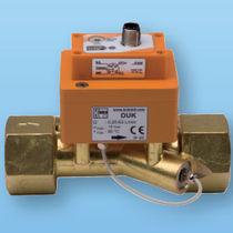 Ultrasonic flow meter / electronic / for liquids / compact