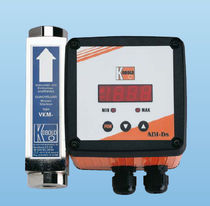 Variable-area flow meter / for air / viscosity-compensated / in-line