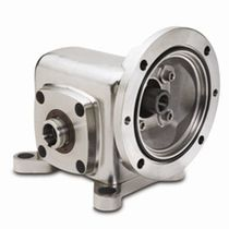 Worm gear reducer / orthogonal / stainless steel / for food industry machinery
