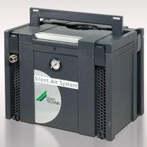 Silent compressor unit / air / piston / oil-free