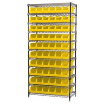 Single-sided shelving / bin / wire mesh
