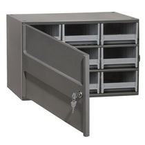 Storage cabinet / single-door / with drawer / steel