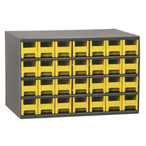 Storage cabinet / floor-mounted / with drawer / steel