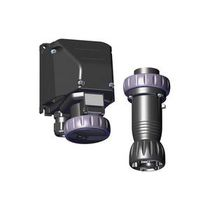 Wall-mounted plug and socket