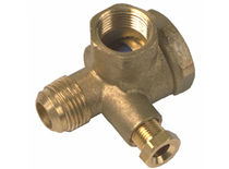 Poppet check valve / threaded / foot