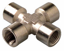 Threaded fitting / cutting ring / hydraulic / cross