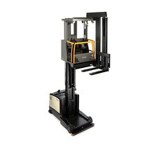 Electric forklift / ride-on / for warehouses / for very narrow aisles