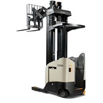 Electric reach truck / stand-on / ride-on / narrow-aisle