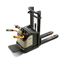 Electric stacker truck / with rider platform / ride-on / for pallets