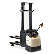 Electric stacker truck / walk-behind / for warehouses / rugged