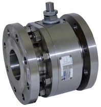 Floating ball valve / lever / petroleum / stainless steel
