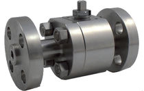 Floating ball valve / lever / petroleum / flange