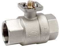 Ball valve / for water / brass / 2-channel