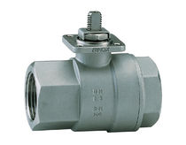 Ball valve / stainless steel / for aggressive media / 2-way