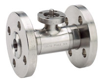 Ball valve / lever / for liquid food products and beverages / flange
