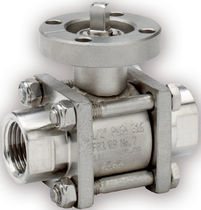 Ball valve / lever / for water / 3-piece