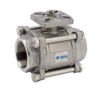 Ball valve / 3-piece / stainless steel / for aggressive media