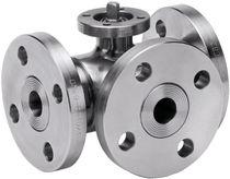 Ball valve / lever / petroleum / flange