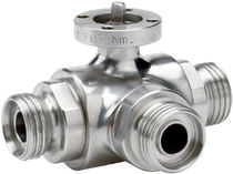 Ball valve / lever / for liquid food products and beverages / stainless steel